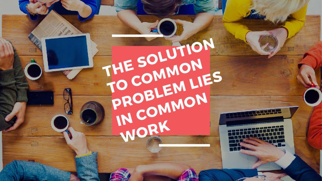 Citation about the solution to common problem — Maak een ontwerp