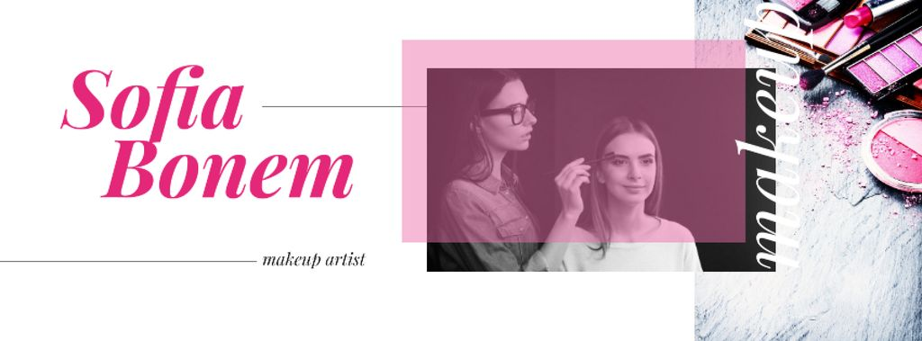 Beautician applying makeup — Crear un diseño