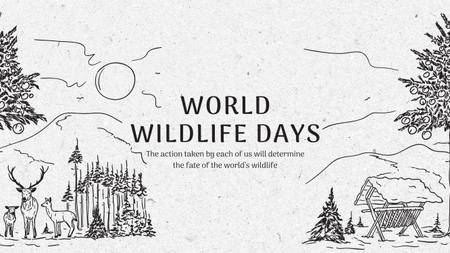 Ontwerpsjabloon van Youtube van World Wildlife Day Event Announcement with Nature Drawing