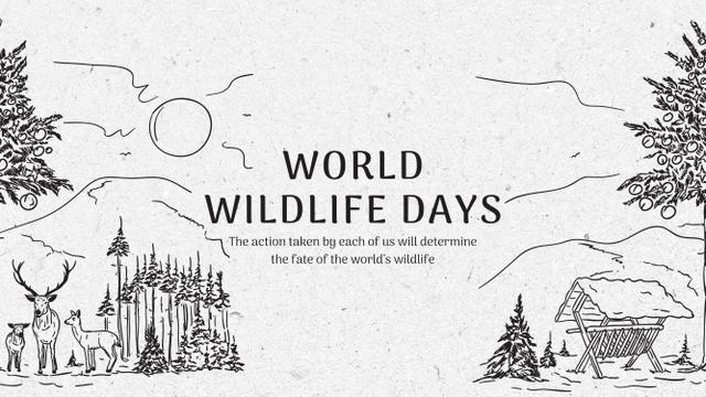 World Wildlife Day Event Announcement with Nature Drawing Youtube – шаблон для дизайну