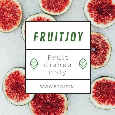 Fruit dishes with Slices of Ginger Instagram Design Template