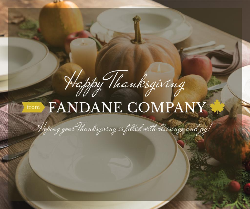 Happy thanksgiving greeting card — Create a Design