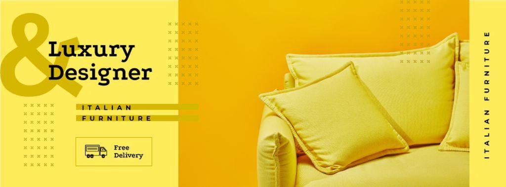 Yellow pillows and sofa — Create a Design
