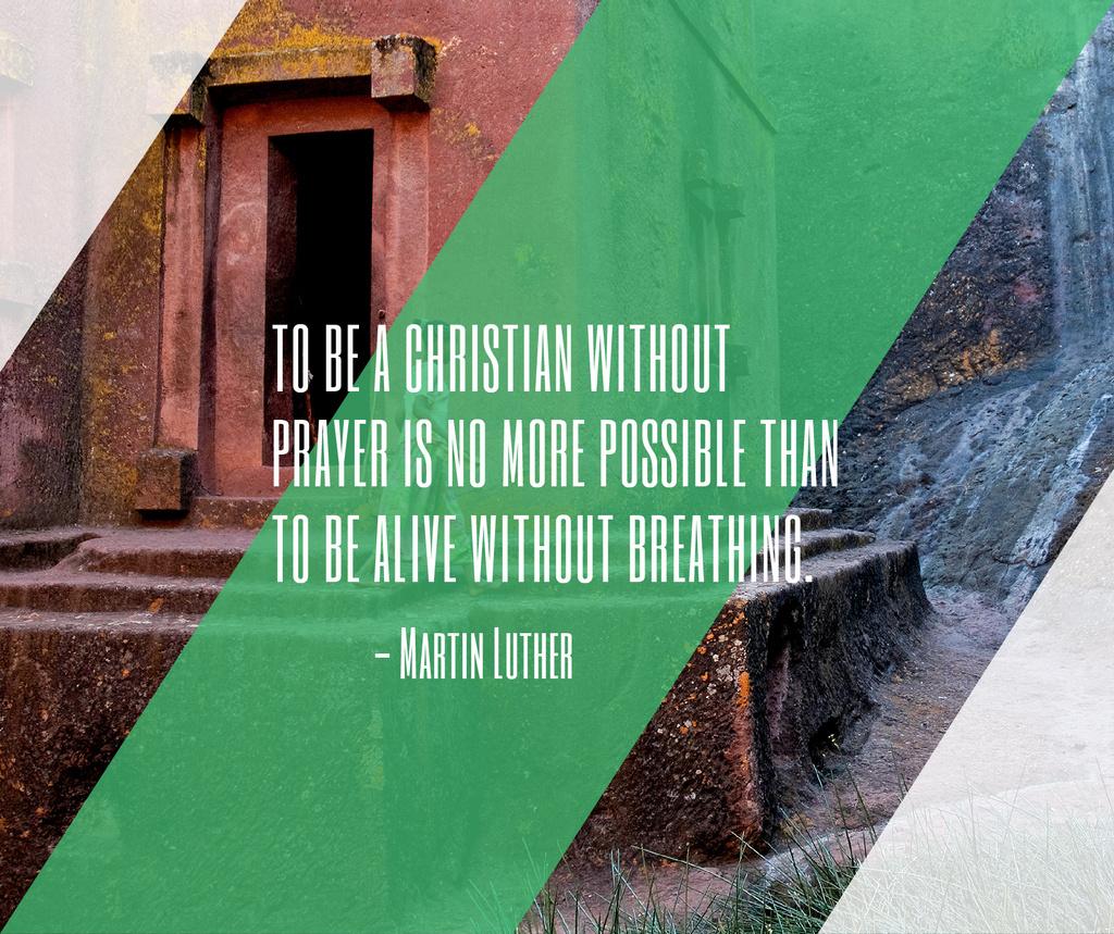 Christian Religion Quote on Church background — Crear un diseño