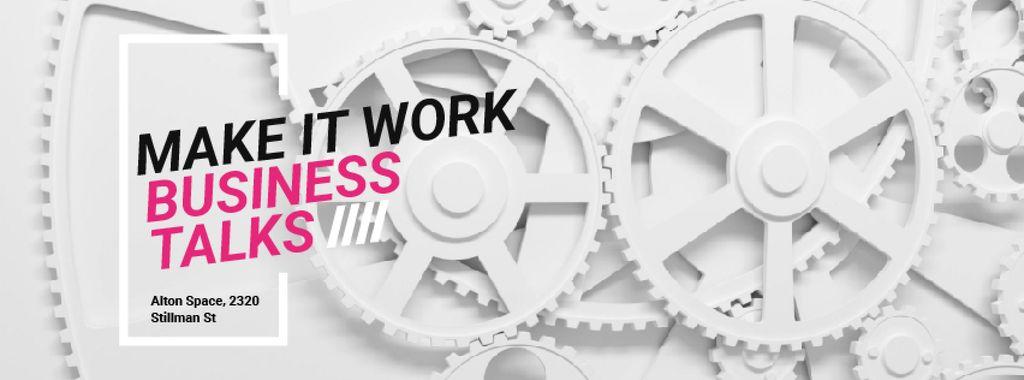 Moving white cogwheels — Crear un diseño