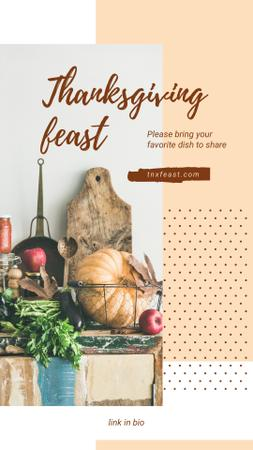 Template di design Thanksgiving traditional Food Instagram Story