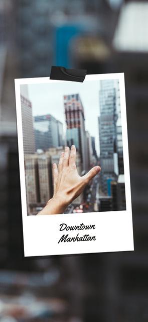 Designvorlage Manhattan skyscrapers view für Snapchat Geofilter