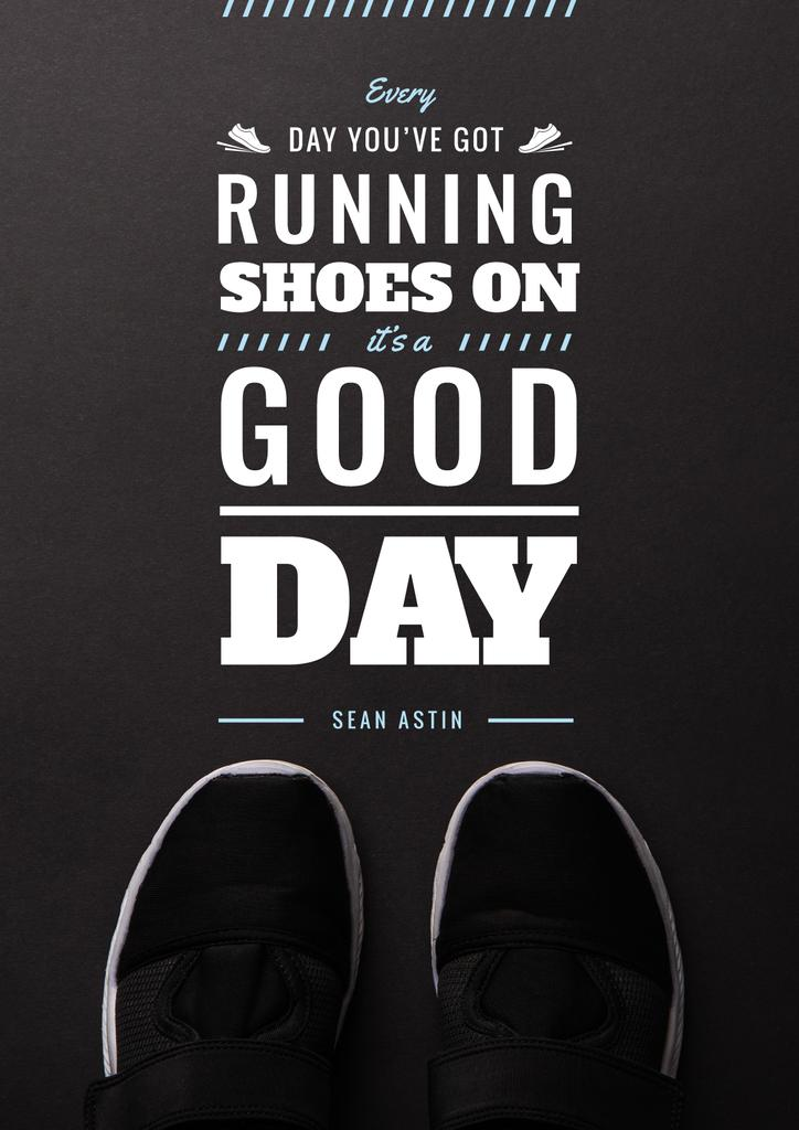 Sports Inspiration Quote with Pair of Athletic Shoes — Maak een ontwerp