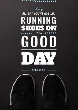 Sports Inspiration Quote Pair of Athletic Shoes