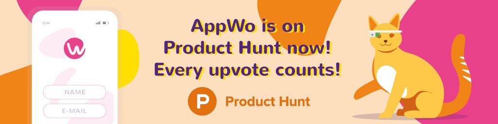 Product Hunt Campaign Ad Login Page on Screen — Створити дизайн