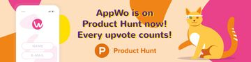 Product Hunt Campaign Ad Login Page on Screen | Web Banner Template