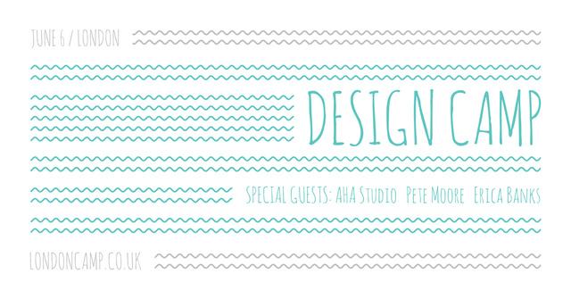 Design camp in London Facebook AD Modelo de Design