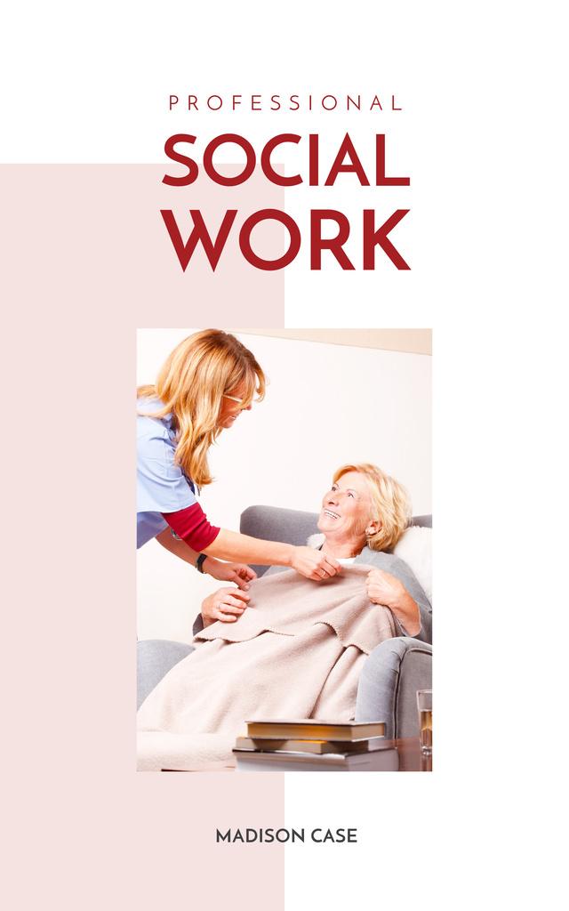 Modèle de visuel Social Work Nurse Caring About Patient - Book Cover