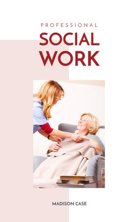 Social Work Nurse Caring About Patient Book Cover Modelo de Design