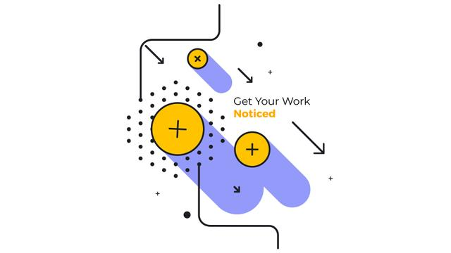 Modèle de visuel Announcement Moving Geometric Figures in Yellow - Full HD video