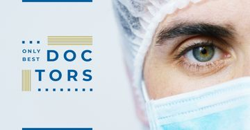 Clinic Ad Close-Up of Doctor's Face | Facebook Ad Template