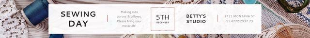 Template di design Sewing day event  Leaderboard