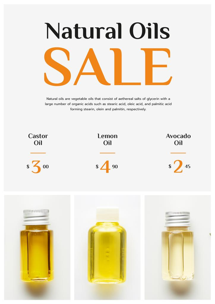 Beauty Products Sale Natural Oil in Bottles — Create a Design