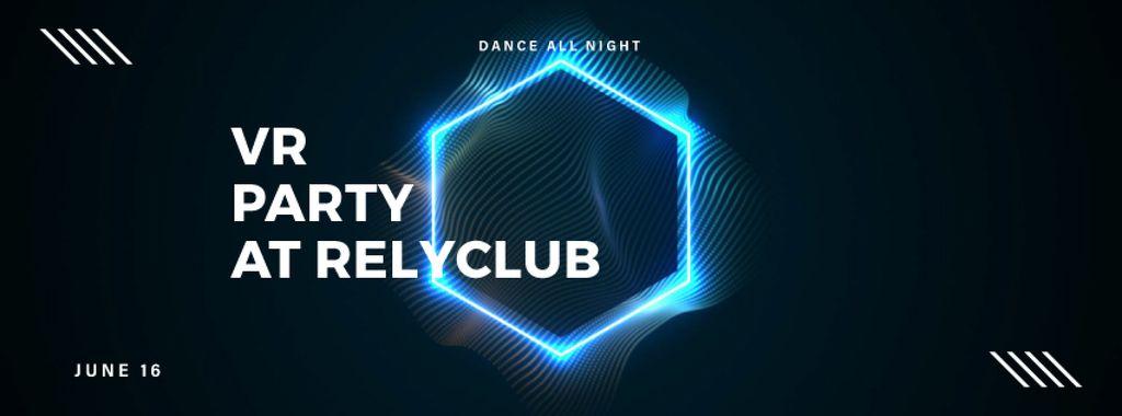 Flickering neon hexagon — Crea un design