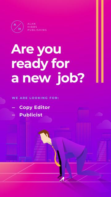Template di design Businessman on start position Instagram Story
