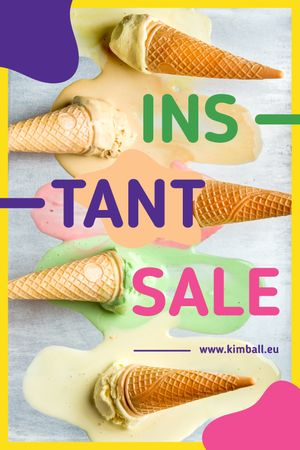 Sale Ad Melting Ice Cream Cones Tumblr Tasarım Şablonu