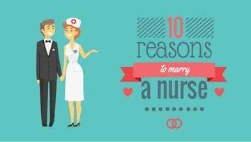 Happy groom and bride Nurse