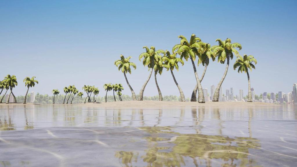 Island Landscape with Palm trees — Створити дизайн