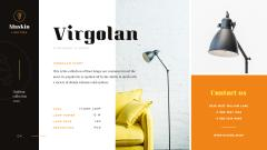 Lighting Design Collection with Lamp in Black
