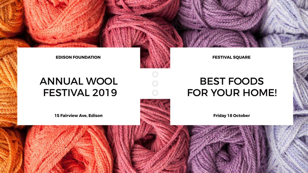 Knitting Festival Wool Yarn Skeins — Modelo de projeto
