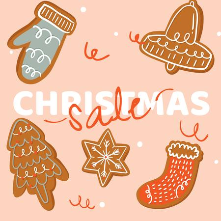 Gingerbread Cookies for Christmas sale Instagram AD – шаблон для дизайну