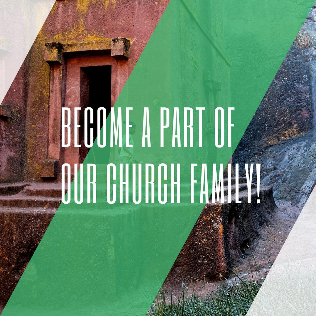 Church Invitation on old building view — Create a Design