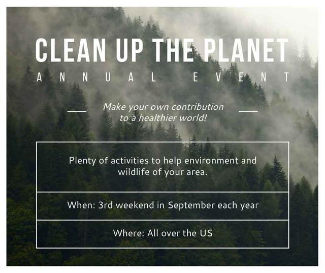 Template di design Ecological Event Foggy Forest View Facebook