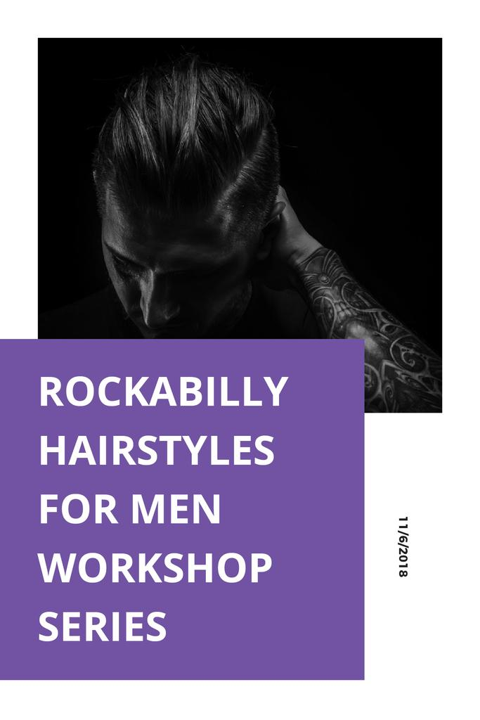 Plantilla de diseño de Hairstyles for men workshop series Pinterest