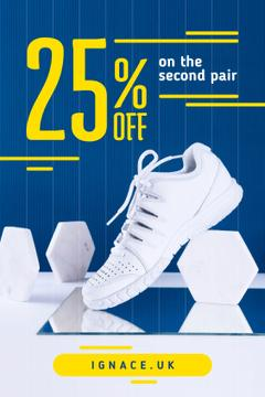 Sport Shoes Sale White Shoe on Blue | Tumblr Graphics Template