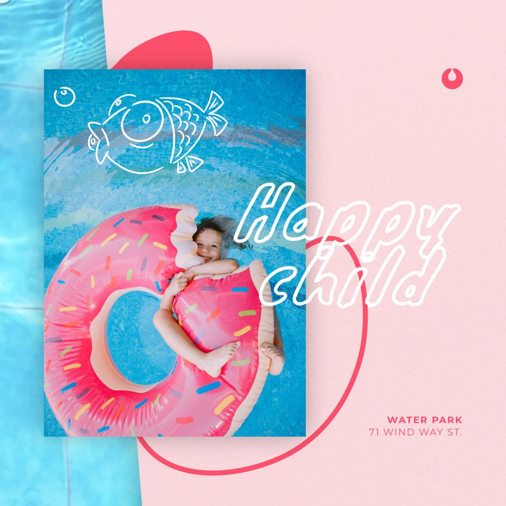 Girl swimming in pool — ein Design erstellen