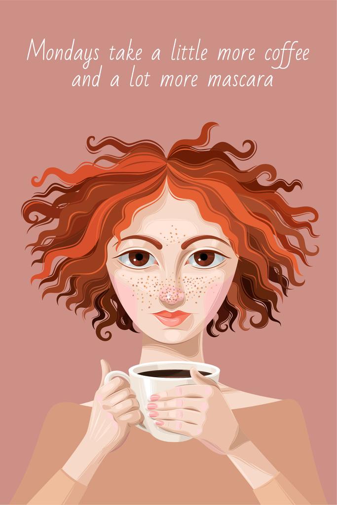 Woman holding Cup of Coffee — Crear un diseño