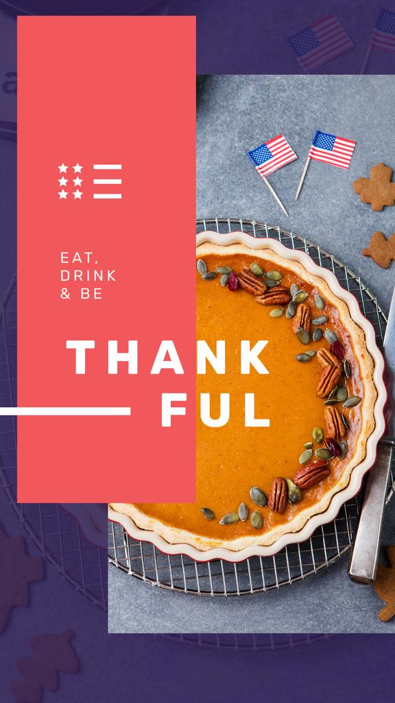 Thanksgiving with Baked pumpkin pie — Crea un design