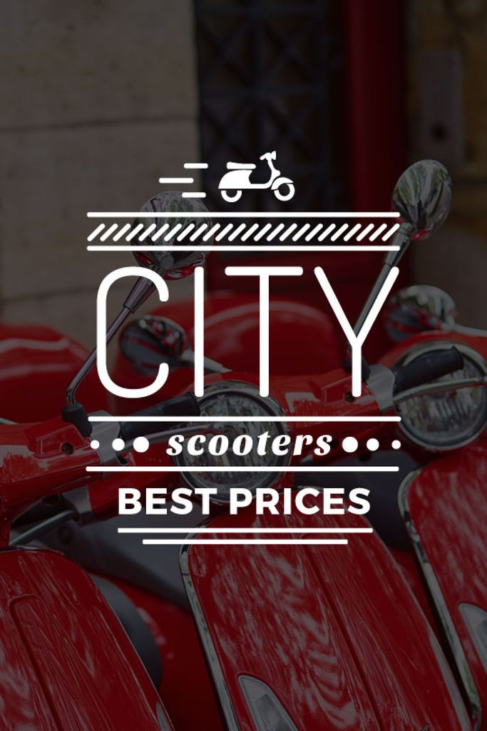 Store Sale Scooters in Red — Создать дизайн