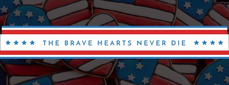 Plantilla de diseño de USA Memorial Day Facebook cover