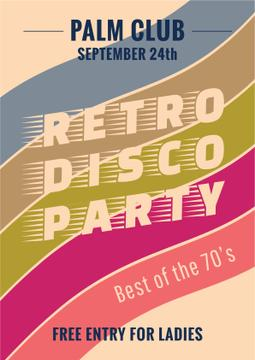 Retro disco party announcement