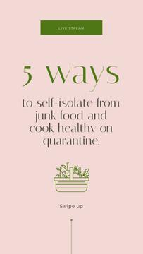 Ways to cook healthy during Quarantine