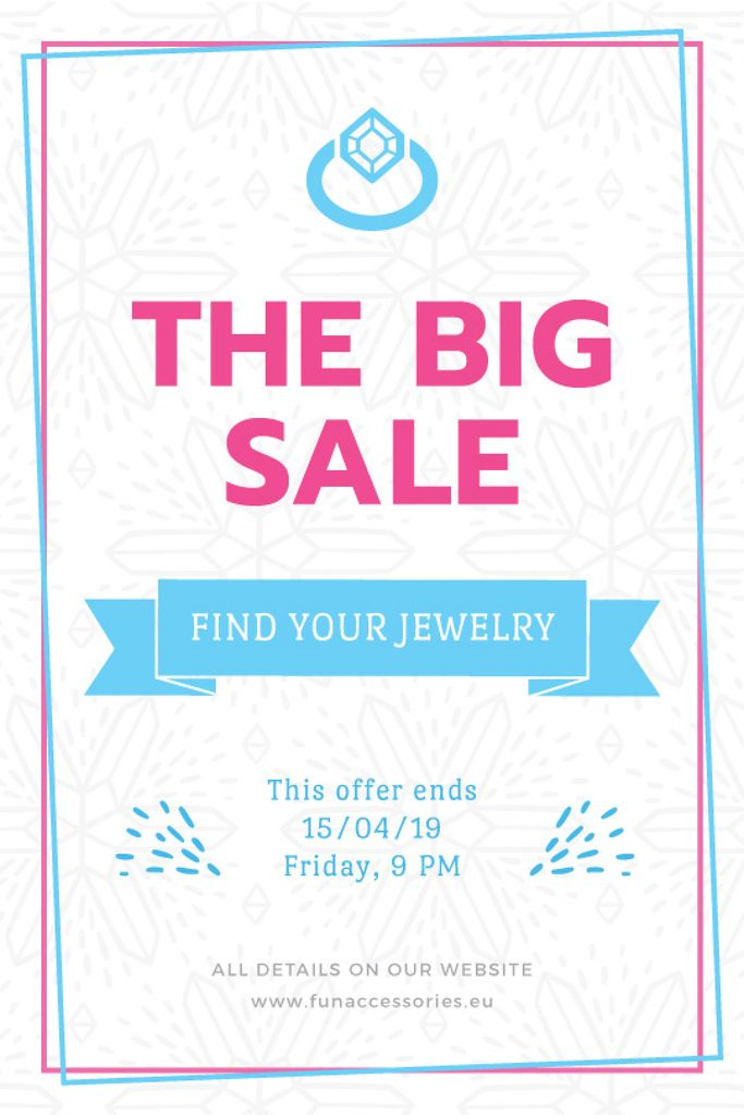 Jewelry Sale Advertisement Shiny Chrystal — Créer un visuel