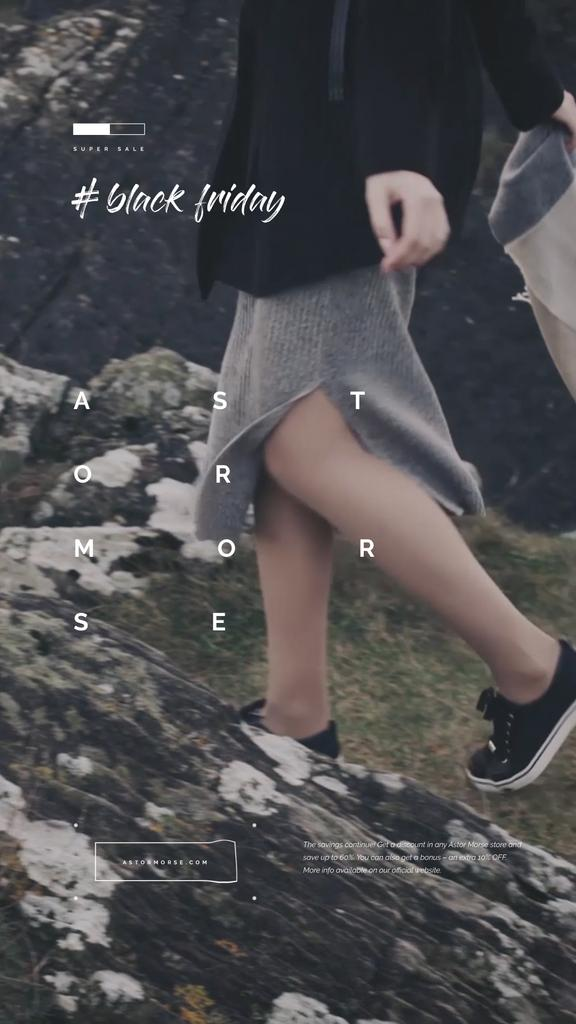 Woman Walking in Mountains | Vertical Video Template — Створити дизайн