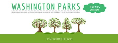 Events in Washington parks Facebook cover Modelo de Design