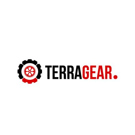 Tech Industry with Cogwheel Icon Logo Tasarım Şablonu