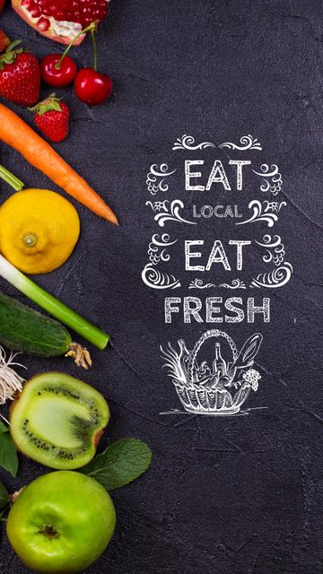 Local Food Vegetables and Fruits Instagram Story Tasarım Şablonu