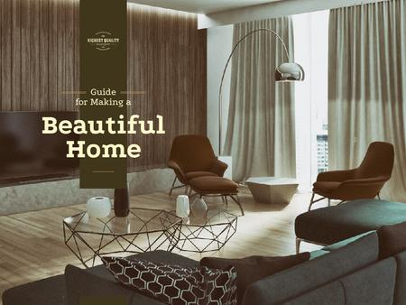 Plantilla de diseño de Guide for making a beautiful home Presentation