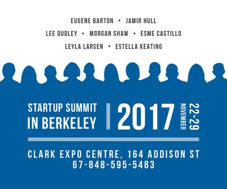 Ontwerpsjabloon van Medium Rectangle van Startup summit in Berkeley