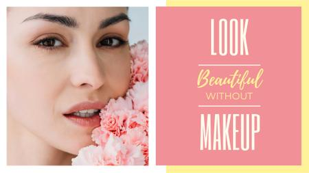 Modèle de visuel Beauty Inspiration Young Girl without makeup - FB event cover