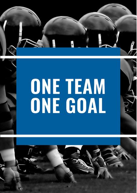 Modèle de visuel Citation about sport team - Poster